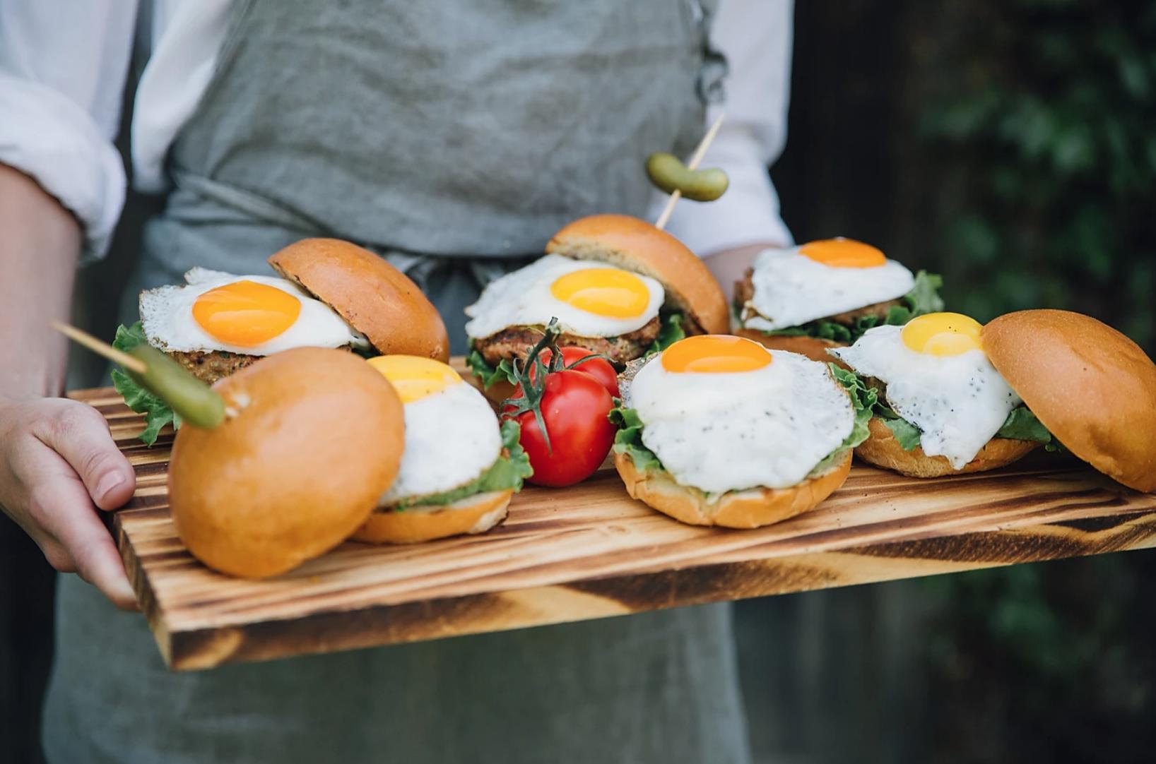 Egg burgers