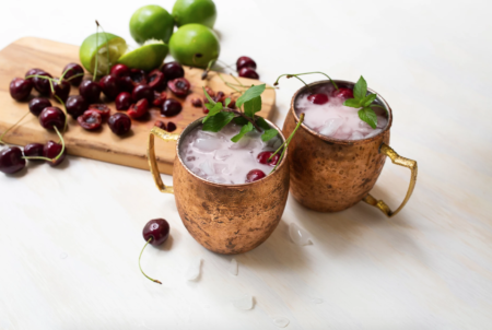 Cherry Smash Moscow Mule