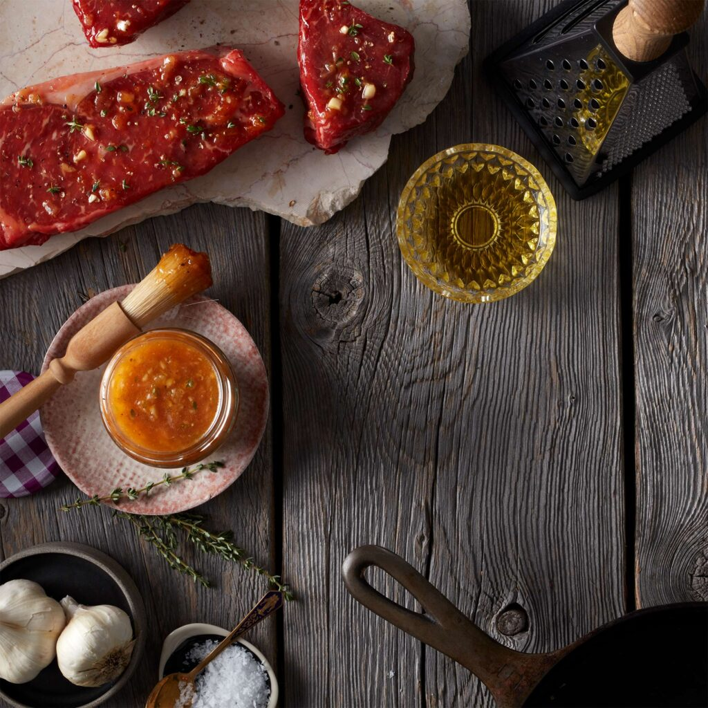 Apricot marinade spread with Bonne Maman's Intense Apricot