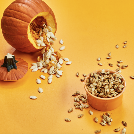 pumpkin and seeds