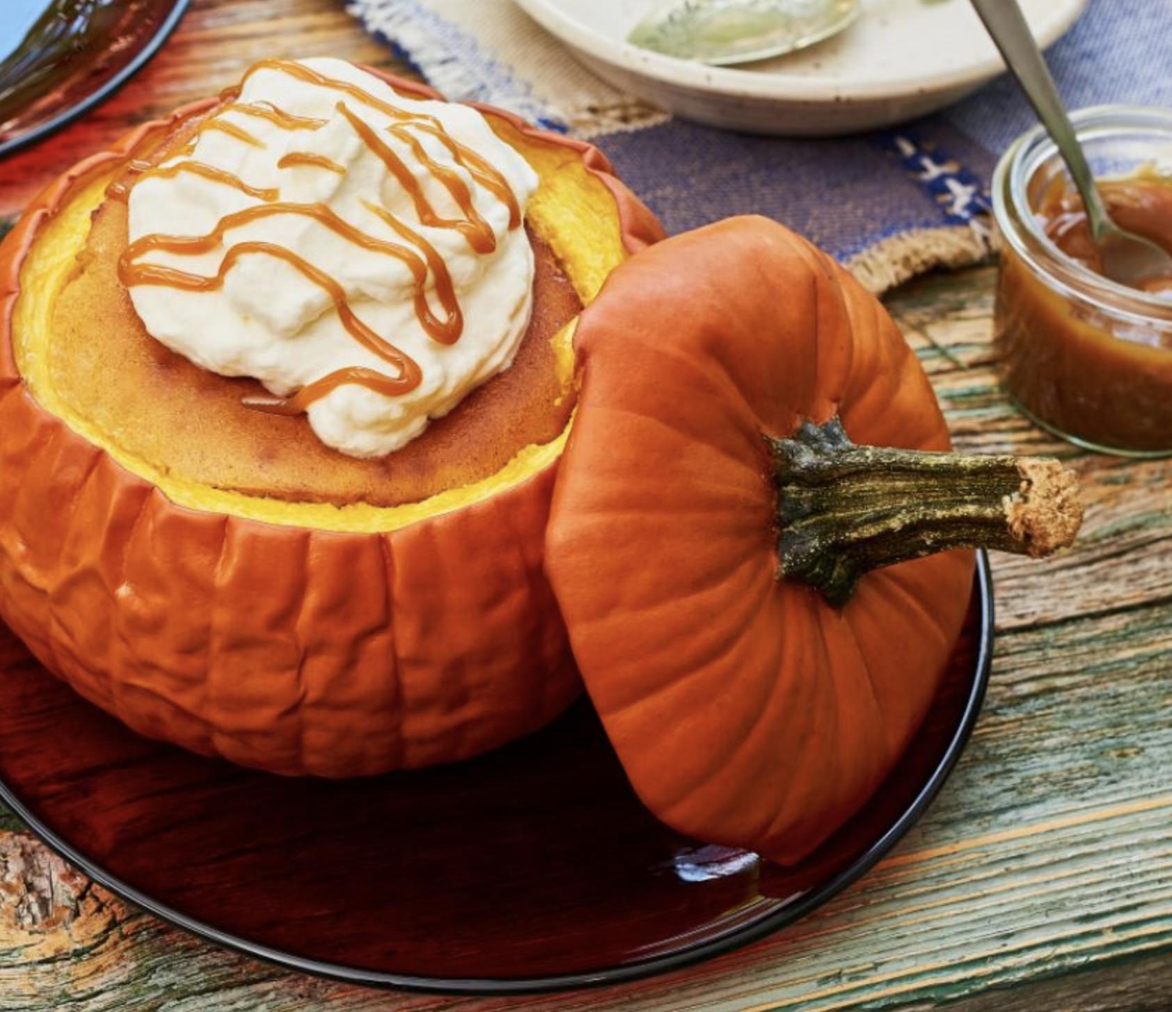 pumpkin cheesecake stuffed pumpkin