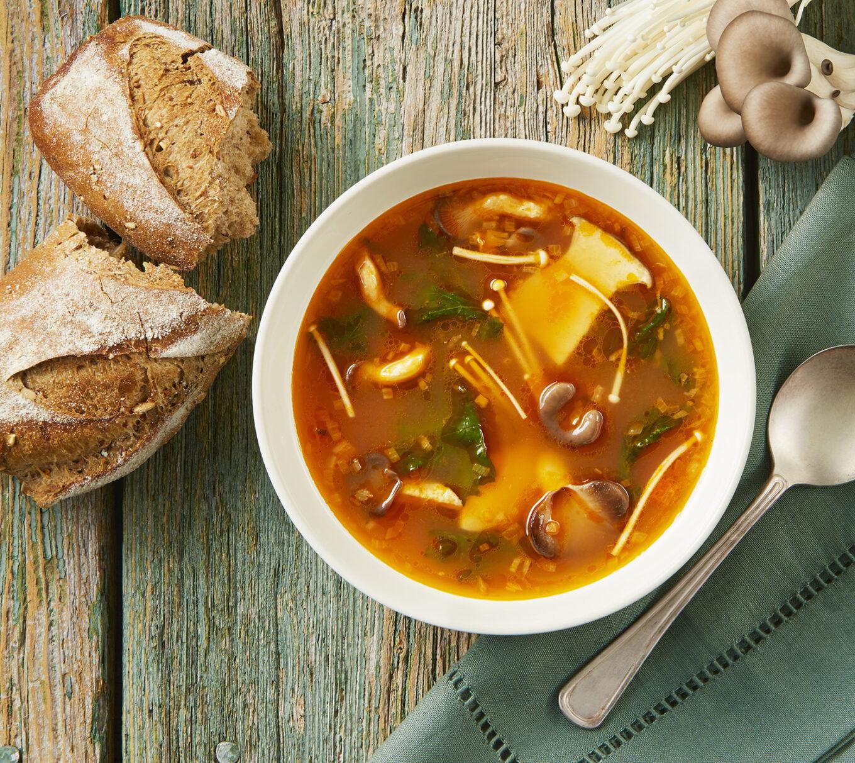 Tomato and Mushroom Soup