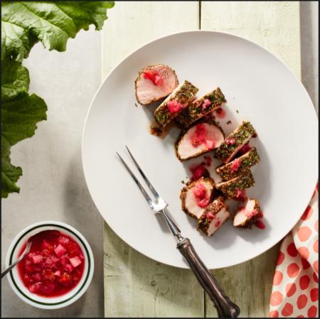 My Rhubarb chutney recipe paired with a Pork Tenderloin