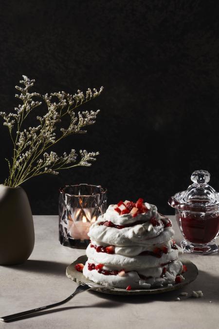 Cherry Streaked Meringues Recipe